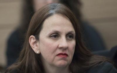 Dina Zilber, adjointe au procureur général, à la Knesset le 31 janvier 2017. (Crédit : Yonatan Sindel/Flash90)