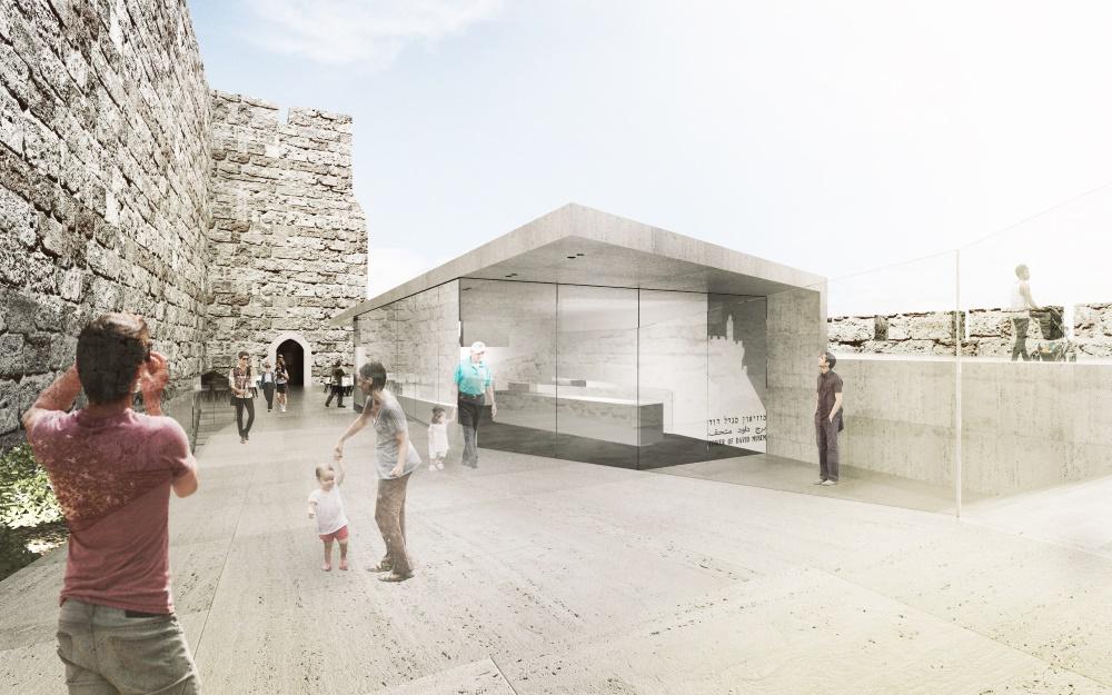 L'entrée de la Tour de David passera à l'ouest, ajoutant des éléments pour accueillir les visiteurs (Autorisation : Kimmel Eshkolot Architects)
