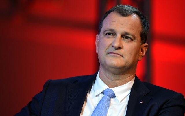 Louis Aliot, vice-président du Front national, à Nîmes, en décembre 2015. (Crédit : Pascal Guyot/AFP)