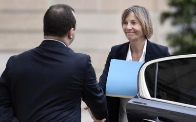 Marielle de Sarnez, ministre française des Affaires européennes, à l'Elysée, le 24 mai 2017. (Crédit : Stéphane de Sakutin/AFP)