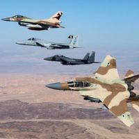 F-15 et F-16 israéliens et américains dans le sud d'Israël, en mai 2017. (Crédit: Unité des porte-paroles de l'armée israélienne)