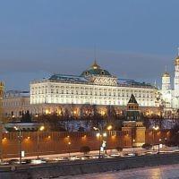 Une vision du Kremlin à Moscou, en Russie (Crédit  : Pavel Kazachkov/Wikimedia Commons/File)