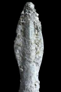 Une pointe de flèche scytho-iranienne (Crédit : Clara Amit, Autorisation de l'Autorité des Antiquités israélienne)
