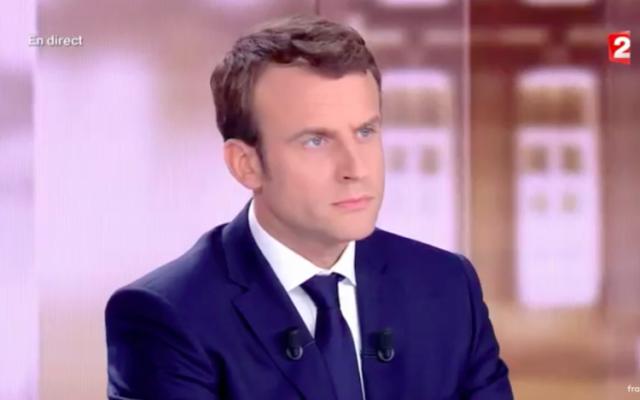 Emmanuel Macron (Crédit : Capture d'écran France TVInfo)