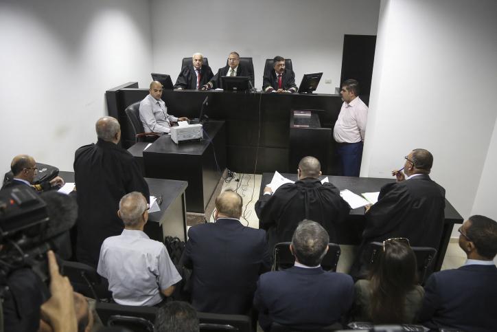 Image d'illustration de la Haute Cour palestinienne à Ramallah. (Crédit : Flash90)