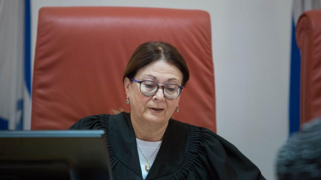 Esther Hayut, juge de la Cour suprême, à Jérusalem, le 2 janvier 2017. (Crédit : Flash90)