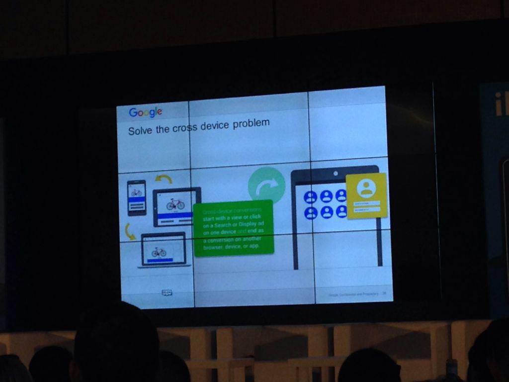 Diapositive d'une conférence de Google pour les plateformes d'options binaires, à la conférence IFX Expo à Chypre, en mai 2016. (Crédit : Hunter Stuart)