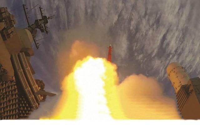 Le système de défense israélien LRSAM. Illustration. (Crédit : autorisation)