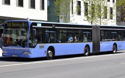 Un bus public de Munich, en juin 2012. Illustration. (Crédit : High Contrast/CC BY 3.0/Wikimedia Commons)