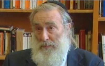 Le rabbin Daniel Greer (Crédit : capture d'écran YouTube/JTA)