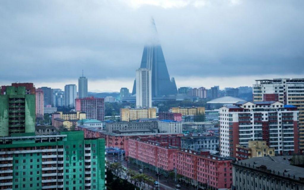 L'horizon de Pyongyang. (Crédit : Moshe Shai)