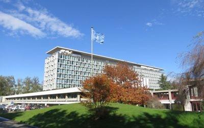 Le siège de l'Organisation mondiale de la Santé, à Genève, en Suisse. Illustration. (Crédit : Thorkild Tylleskar/CC BY-SA/Wikipedia)