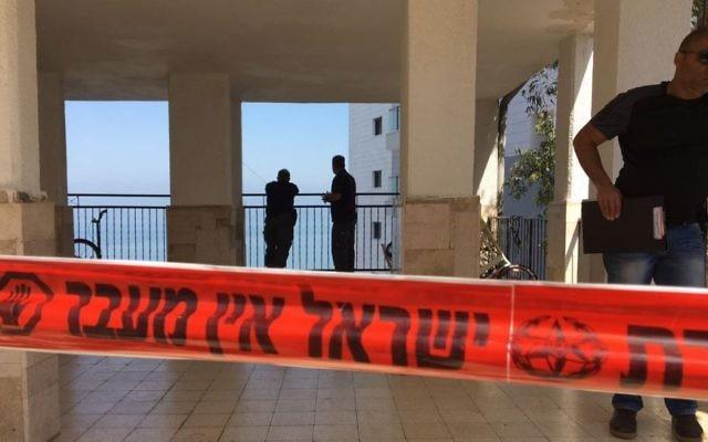 Scène de crime. Illustration. (Crédit : police israélienne)
