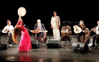 L'Ensemble Golha. (Crédit : Menashe Sasson)