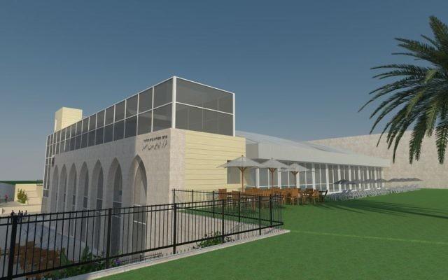 Esquisse de la piscine prévue dans le quartier arabe de Beit Hanina, à Jérusalem. (Crédit : Galpaz Architecture/municipalité de Jérusalem)