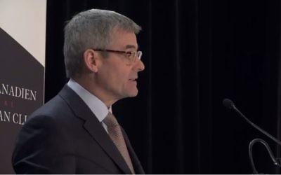 Pierre Boivin, PDG de la société d'investissement Claridge (Crédit: capture d'écran Youtube/Le Cercle candien de Montréal)