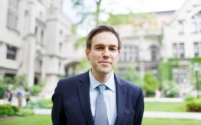 Bret Stephens à l'université de Chicago, le 7 juin 2014. (Crédit : Jason Smith via JTA)