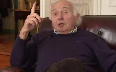 Elie Buzyn, survivant du ghetto de Lodz, du camp d'Auschwitz et de la marche de la mort, est aujourd'hui le père d'Agnès Buzyn, ministre de la santé et grand passeur de mémoire (Crédit: capture d'écran BFMTV)