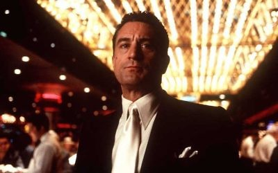 "Robert De Niro joue Sam 'Ace' Rothstein dans ""Casino"", sorti en 1995. (Crédit : Hulton Archive/Getty Images)"