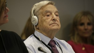 George Soros à l'assemblée générale des Nations Unies de New-York, le 20 septembre 2016 (Crédit : Peter Foley/Pool/Getty Images/via JTA)