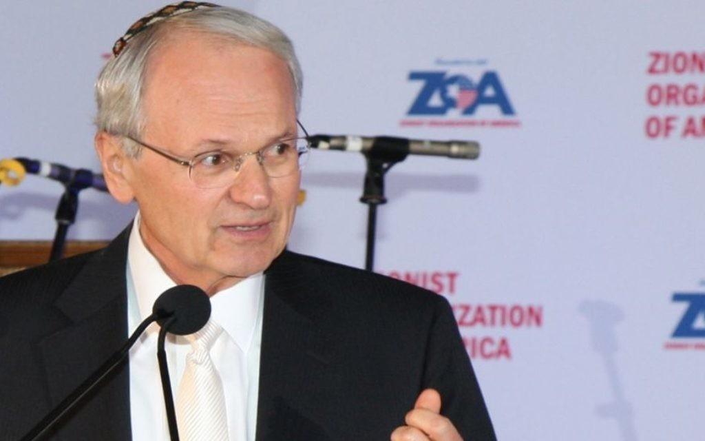 Le président de la Zionist Organization of America (ZOA), Morton A.Klein (Joseph Savetsky/Avec l'aimable autorisation de la ZOA)