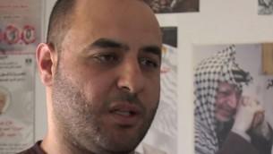 Taher Shrateh du club des prisonniers palestiniens (Crédit : capture d'écran Arte)
