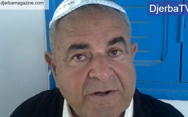 Perez Trabelsi, président de la commission d'organisation du pèlerinage de la Ghriba fustige les recommandations du gouvernement israélien (Crédit: capture d'écran Youtube/Djerba Magazine)