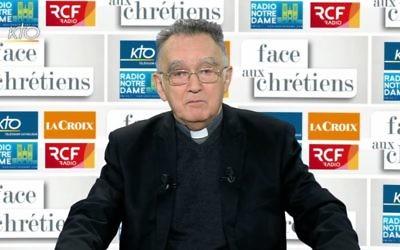 Monseigneur Georges Pontier, président de la Conférence des évêques de France, en décembre 2016. (Crédit : capture d'écran YouTube/KTOTV)
