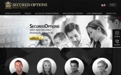 Le site internet de Secured Options. (Crédit : capture d'écran)