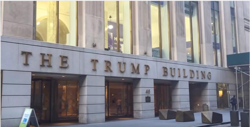 Banc De Binary avait affirmé avoir un bureau à New York, au 40 Wall Street. (Crédit : capture d'écran YouTube)