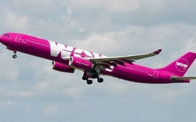 Illustration: un avion de ligne de la compagnie WOW air.  (Crédit : WOW air)