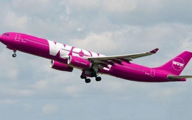 Illustration: un avion de ligne de la compagnie WOW air.  (Crédit : WOW air)