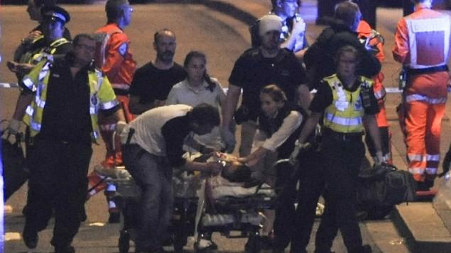 Les lieux de l'attentat au London Bridge en plein coeur de la capitale, le 3 juin 2017 (Crédit: AFP / DANIEL SORABJI)