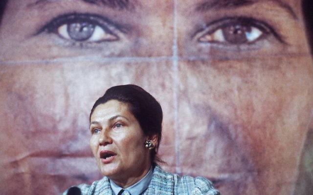 Simone Veil, ministre de la Santé, pendant la campagne électorale pour les élections européennes, le 1er mai 1979. (Crédit: AFP/Staff)