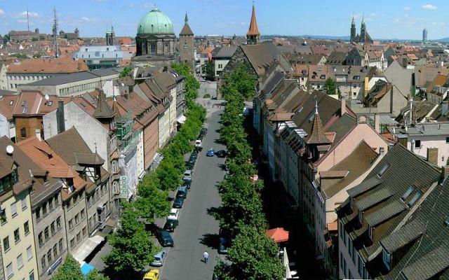 Vue sur le centre historique de Nuremberg. Illustration. (Crédit : Manfred Braun/CC BY-SA 3.0/WikiCommons)