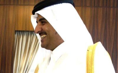 L'Emir du Qatar, le Cheikh Tamim ben Hamad Al Thani (Crédit : Chuck Hagel/CC BY 2.0/WikiCommons)