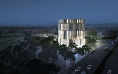 La maquette du futur musée de la Shoah à Thessalonique. (Crédit : Communauté juive de Thessalonique)