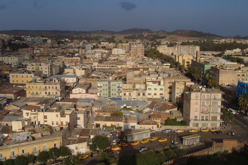 La ville d'Asmara, en Erythrée. (Crédit : Charles Fred from Amsterdam/CC BY-SA 3.0/WikiCommons)