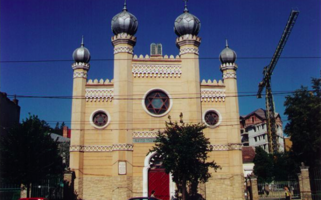La synagogue de Cluj en Roumanie (Crédit : domaine public)