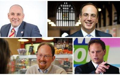 Dans le sens des aiguilles d'une montre, de gauche à droite : Rob Halfon, Michael Ellis, Grant Shapps et Julian Huppert. (Crédit : Autorisation)