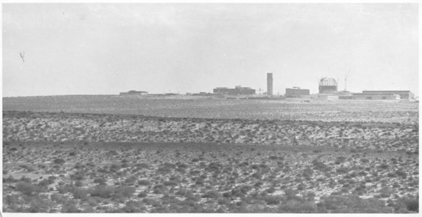 L'installation nucléaire de Dimona, dans le sud d'Israël, dans les années 1960. (Crédit : Flash90/US National Security Archive)