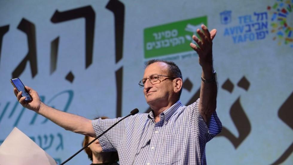 Ron Huldai, le maire de Tel Aviv, pendant une conférence sur l'éducation dans sa ville, le 26 mai 2016. (Crédit : Tomer Neuberg/Flash90)