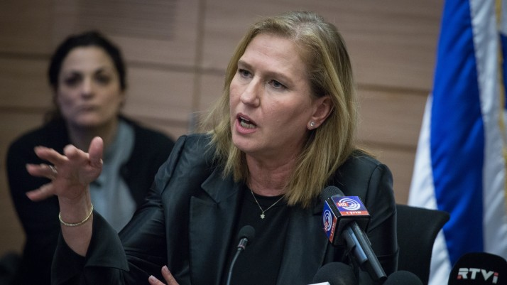 Tzipi Livni, députée de l'Union sioniste, pendant une réunion du groupe parlementaire à la Knesset, le 16 janvier 2017. (Crédit : Hadas Parush/Flash90)
