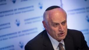 Malcolm Hoenlein, vice-président exécutif de la Conférence des présidents des organisations juives américaines majeures, à Jérusalem, le 19 février 2017. (Crédit : Hadas Parush/Flash90)