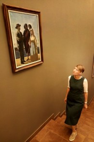 Svetlana Khvostova, employée de la Bibliothèque nationale de Russie en charge de la Collection Schneerson. (Crédit : autorisation)