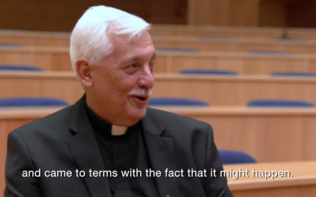 Arturo Sosa Abascal, alias le Pape noir, nouveau Supérieur de la Compagnie des Jésus. (Crédit : capture d'écran Youtube/Jesuit Media)