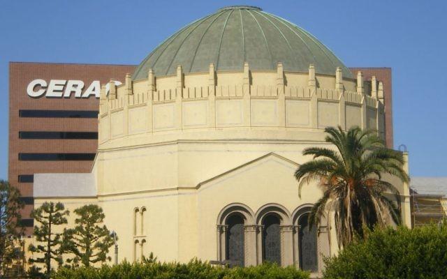 Wilshire Boulevard Temple à Los Angeles, Californie. (Crédit : Wikipedia/Cbl62/CC BY-SA)