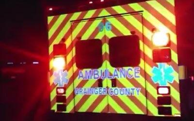 Illustration : une ambulance de Grainger Country Ambulance services. (Crédit : capture d'écran YouTube)