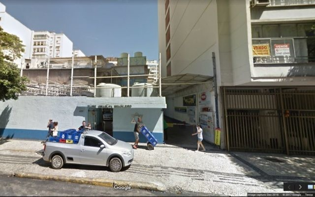 Le club Israelita Brasilerio de Rio de Janeiro, au Brésil (Capture d'écran :  Google Street )