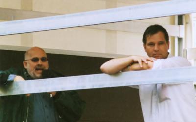 Horst Mahler, à gauche, avec Christian Worch, à Leipzig, le 1er septembre 2001. (Crédit: Wikimedia Commons/Herder)